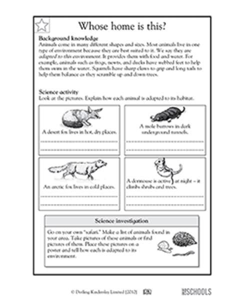 5th grade science worksheets how animals adapt to habitat greatschools