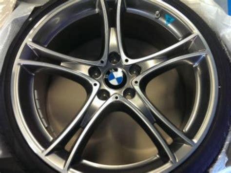 genuine bmw  wheel tire set ferric