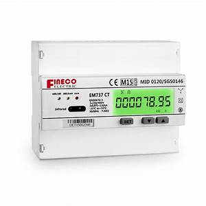 Em737 Ct Mid Apporved Three Phase Energy Meter Three Phase