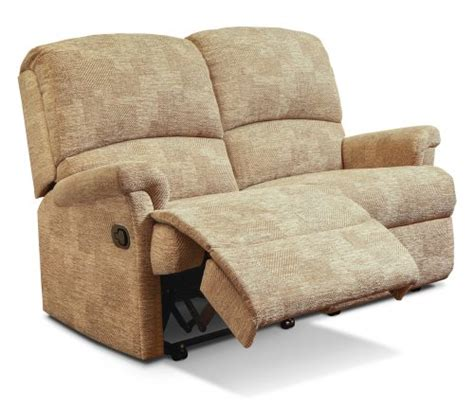 Small 2 Seater Settees by Nevada Small Fabric Reclining 2 Seater Settee Sherborne