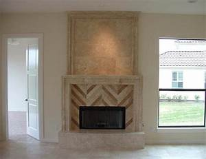 Custom Travertine Fireplaces Traditional Living Room