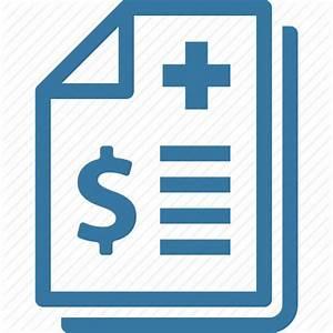 Health insurance, medical bill, medical receipt icon ...