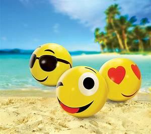 Large Emoji Beach Balls Set Of 3 - KOVOT