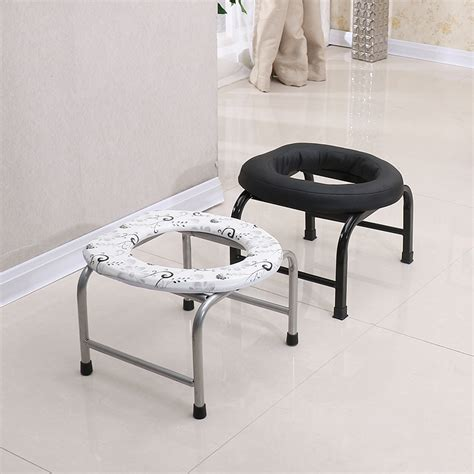 chaise toilette folding non slip elderly toilet stool