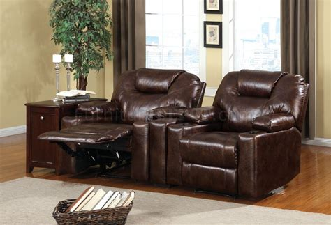 cm davos home theater recliners  leather  fabric