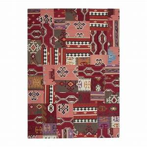 tapis ligne pure kilim enjoy en laine rouge 200x300 With tapis ligne pure