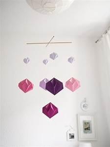Mobile Basteln Origami : diy origami diamant mobile geschenke basteln mobile basteln basteln und origami ~ Orissabook.com Haus und Dekorationen