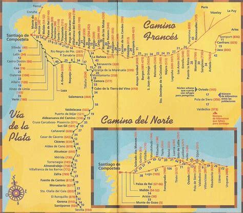camino santiago map camino de santiago maps camino frances map