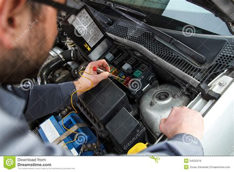 Car Electrical Wiring by Car Electric Repair Stock Image Image Of Lighting