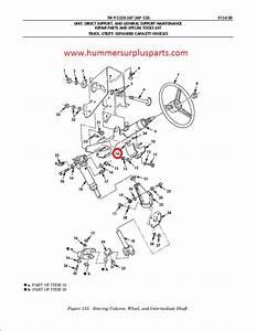 Hmmwv M998 Steering Column Support Left Side 12342876 2530