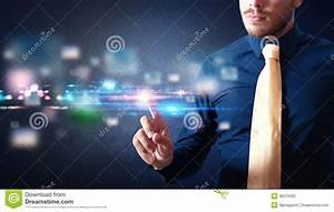 Futuristic Touch Screen Interface Stock Photography ...