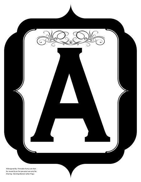 printable alphabet letters   printable banner letters
