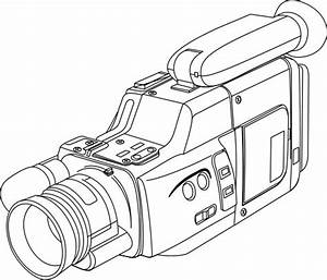Outline drawing of a video camera; Technology