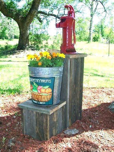 decorative outdoor  pump covers alike  bucket