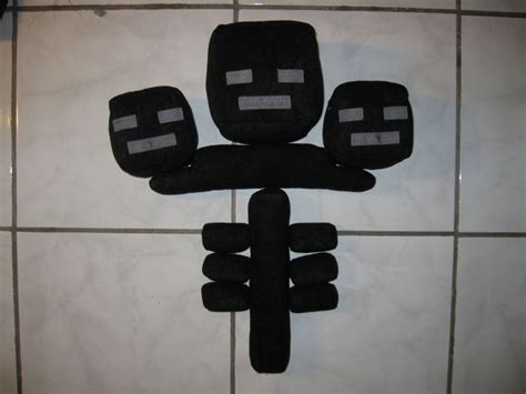 Make a Wither Plushie from Minecraft - 1