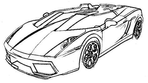 Lambergini Free Coloring Pages
