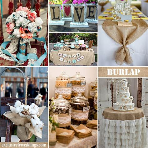 wedding decor in burlap pin by exclusively weddings on burlap wedding ideas