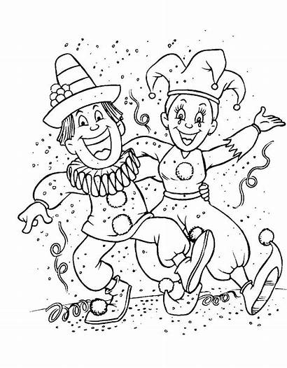 Carnival Coloring Pages Funny