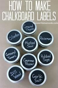 how to make chalkboard labels hoosier homemade With how to make labels for jars
