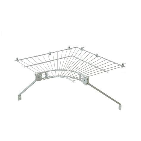 closetmaid ventilated wire corner shelf for 16 in shelf