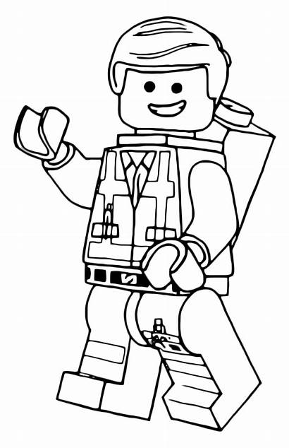 Lego Coloring Pages Emmet Star Wars Colouring