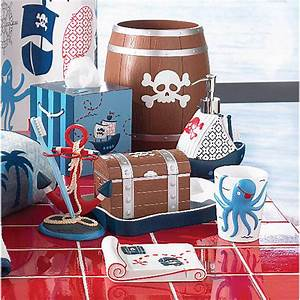 Pirates bath accessories by kassatex gracious style for Pirate bathroom accessories
