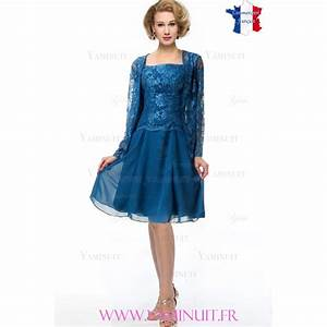 tailleur ceremonie dame mere marie bleu dentelle ingrid With ensemble robe veste