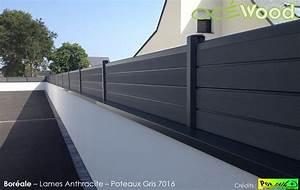 Cloture Sur Muret : mur de cloture design finest gallery with mur de cloture ~ Carolinahurricanesstore.com Idées de Décoration