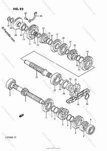 Suzuki Atv 1989 Oem Parts Diagram For Transmission  Model