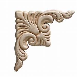 Ornamental, Mouldings, 3319pk, 7, 32, In, X, 3, 4, In, X, 3, 4, In, Birch, Acanthus, Corner, Onlay