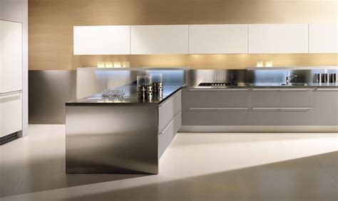 10 Stylish Aluminium Stainless Steel Kitchen Designs 10 stylish aluminium stainless steel kitchen designs