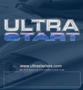 Ultra Start Remote Starter 1272 User Guide