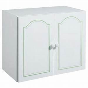 visuel meuble haut de salle de bain 2 portes a suspendre With meuble de rangement salle de bain a suspendre