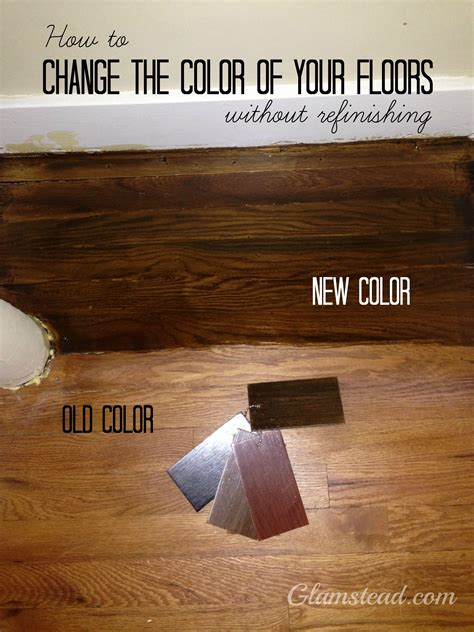 refinishing hardwood stairs monk 39 changing the floor color without refinishing home diy