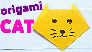 Origami Cat Face Animals Easy Tutorial 3d Instructions