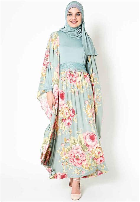 gamis motif combi model baju batik modern model trend 2014 lengkap wanita
