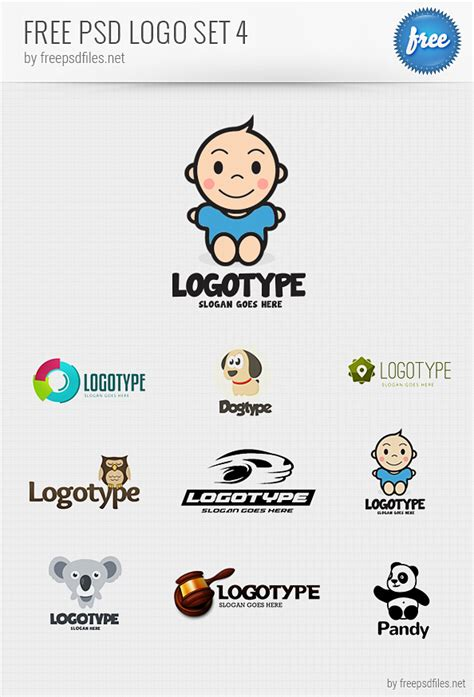 free logo design templates psd logo design templates pack 4 free psd files