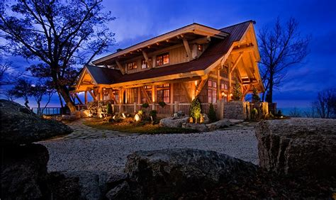 carolina hybrid log home