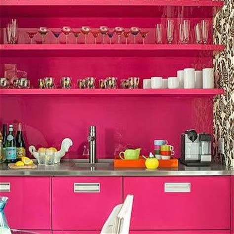 fuschia pink kitchen accessories pink backsplash design ideas 3686