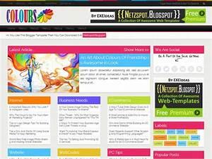 Colours  A Free Premium Responsive Blogger Template
