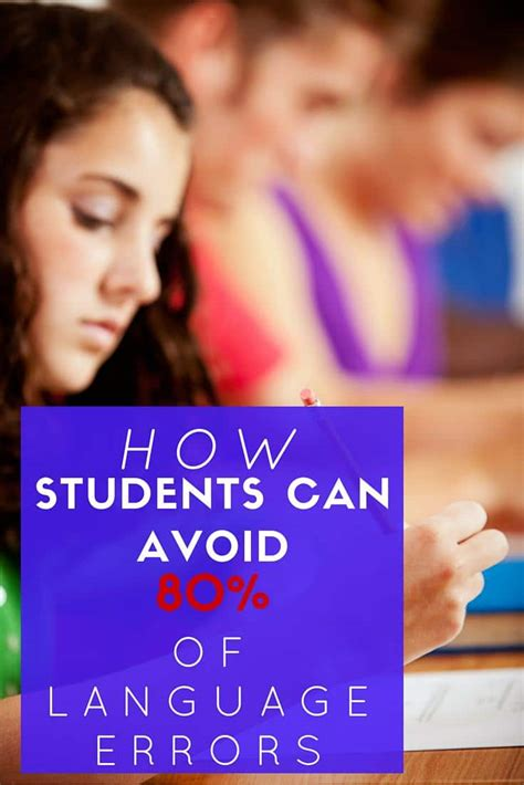How Students Can Avoid 80% Of Language Errors