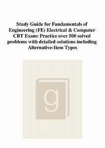 Pdf  Study Guide For Fundamentals Of Engineering  Fe
