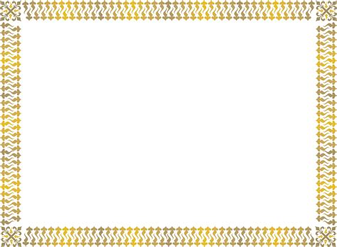 gold award certificate border  printable page borders