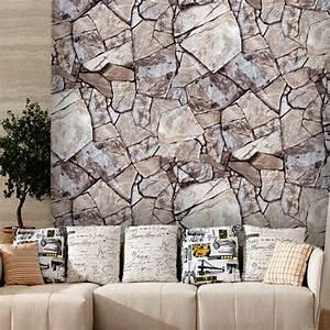 Faux Stone Peel and Stick Wallpaper Rock Stone Self ...