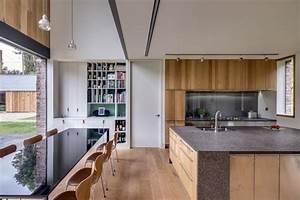 plancher bois massif et deco moderne la maison rustique cool With deco cuisine avec meubles salle À manger bois massif