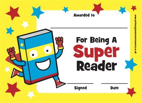 Super Reader Certificate