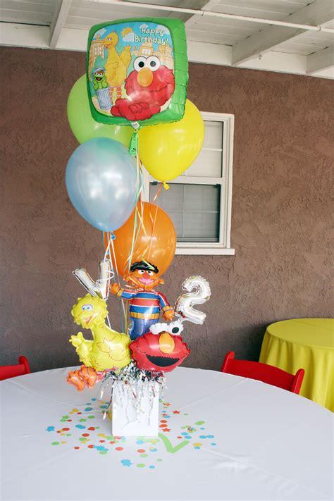 Sesame Street Party Balloon Centerpiece