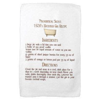 prohibition bathtub gin recipe kitchen towel my