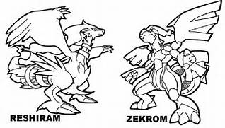 Zekrom Vs Reshiram Legendary Pokemon Coloring Pages  Printable Pokemon Coloring Pages Legendaries