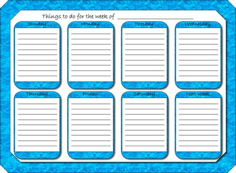Free Weekly Planner Sheets Printable